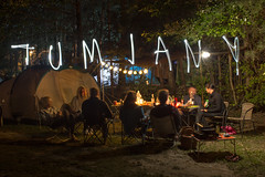 Tumiany Camping (Michal Szczepankiewicz Photo) Tags: tumiany camping party tent lights inscription painting forest people friends summer vacations freetime caravan lightpainting long exposure night