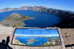 Naming A Natural Wonder (daveynin) Tags: lake blue crater island volcanic fisheye overlook historical name clear sky