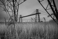 Power of Industry. (Sean Hartwell Photography) Tags: transporterbridge newport gwent southwales wales industry industrial decay blackandwhite monochrome bridge pylon infrared ir