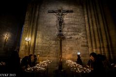 Notre-Dame de Paris (Yee-Kay Fung) Tags: church notredamedeparis candles cross