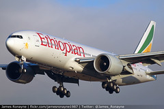 ET-AQL | Boeing 777-260LR | Ethiopian Airlines (james.ronayne) Tags: etaql boeing 777260lr ethiopian airlines aeroplane airplane plane aircraft jet jetliner airliner aviation flight flying london heathrow lhr egll canon 80d 100400mm raw