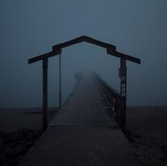 Road to nowhere (olssonwork) Tags: fog sea water silence wawes spring desolate silent falkenberg