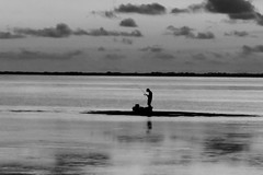 Solitude: The Fisherman (maj488/mike) Tags: fisherman fishing fish florida apalachicola port st joe boat portstjoe rodandreel bay ocean gulf