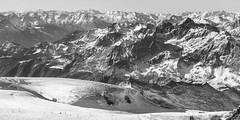 Distance (Rico the noob) Tags: dof d850 landscape comerge nature outlook switzerland outdoor panorama 2470mmf28 snow 2017 zermatt monochrome schweiz ice published blackandwhite sky 2470mm mountains bw mountain