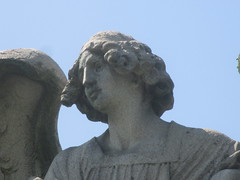 IMG_7504 (Brechtbug) Tags: roof sitting angel clutching sword above mausoleum entrance granite greenwood cemetery statue wings graveyard tomb horn tombstone crypt mausoleums angels swords seated green wood brooklyn new york city 2018 nyc located corner border ave sassafras 08122018