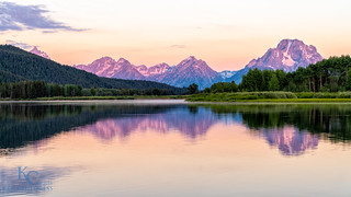 Oxbow Bend Pastel Sunrise