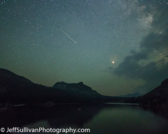 Persied Meteor over Tioga Lake (Jeffrey Sullivan) Tags: mono lake committee astrophotography seminar night photography workshop california usa landscape nature travel canon eos 6d photo copyright august 2018 jeff sullivan sierra astronomy