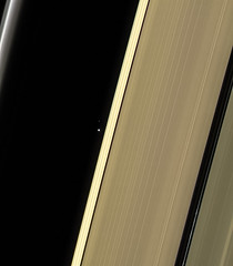 Earth and Saturn's Rings - April 13 2017 (Kevin M. Gill) Tags: saturn earth ringsofsaturn moon cassini nasa jpl planetary science astronomy space