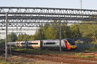 A Virgin Pendolino seen from a...Virgin Pendolino