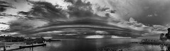 Storms over Central Florida (Michael Seeley) Tags: blackandwhite cloud florida lakewashington melbourne mikeseeley shelfcloud stormchasing stormclouds thunderstorm