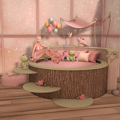 # 345 - Princess & the Frog (Prettybubbles.) Tags: sl secondlife truth lefilcasse epic thedarkness samposes enchantment beedesigns equal10 blackbantam vanityevent halfdeer tentacio caboodle wednesday mossmink lagom