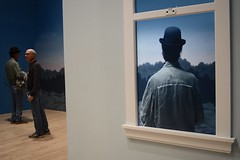 Step Inside Magritte World (-»james•stave«-) Tags: sfmoma people art museum augmentedreality window camera interactive man back hat bowler artist magritte surreal sf sanfrancisco california ca nikon d5300