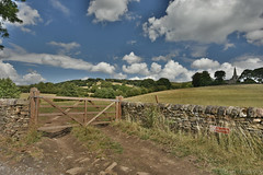 Footpath Gate (Bri_J) Tags: stanageedge peakdistrict nationalpark hathersage derbyshire uk countryside nikon d7200 hdr clouds sky gate path drystonewall