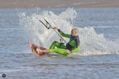 Far Out Man (alundisleyimages@gmail.com) Tags: kitesurfing sport water surf man competitor spray splash action rivermersey lowtide wallasey merseyside beach coast england fun hobby amusement skill balance nikon sigma photography