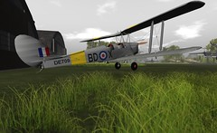 "Army corps Tigermoth (Jenny ""Oxymoron"" D) Tags: tigermoth raf army corps united kingdom aviation second life alaviation"