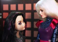 Clea in the Sanctum02 (Black Rose Bride) Tags: clea dolls custom marvel disney ravenqueen datenight mattel everafterhigh cinderella2015 fairygodmother liveaction disneystore