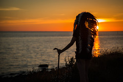 Chief at sunset (teltone) Tags: chief native sunset ritual beauty summer liverpool 2018 tribal