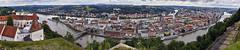 Passau von ganz oben (Helmut Reichelt) Tags: inn donau donauradwanderweg veste oberhaus dom passau spiegelung frühling juni stadt niederbayern bavaria deutschland germany leica leicam typ240 captureone11 colorefexpro4 leicasummilux35mmf14asphii pasov europe evropa nemecko brd panorama