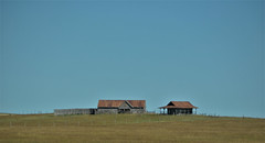 Old Abandoned Farmstead (Seattle.roamer) Tags: farm deserted house barn field sky south dakota plains great