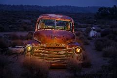 1953 Chevy Suburban (Jeffrey Sullivan) Tags: rusty 1953 chevy suburban abandoned rural decay nevada usa travel night photography canon eos 6d photo copyright august 2018 jeff sullivan