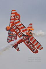 Breitling, Boeing Stearman, N707TJ, EBLE, 19SEP2010 (rcijntje) Tags: sanicole airshow sunset belgium breitling aerobats