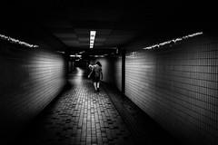I'm going my way (tomorca) Tags: woman street station underground dark blackandwhite monochrome fujifilm xt2