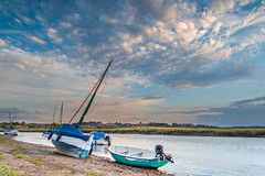 Relaxation (andybam1955) Tags: quay landscape blakeney blakeneyharbour clouds coastal blakeneyquay sky northnorfolk boats rural norfolk sea