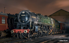 70013 'Oliver Cromwell' + 44871 - East Lancashire Railway - 19 February 2010 (3) (Mike Heath Photo) Tags: last days british railways steam it57 50 years elr east lancashire railway 15 guinea special 70013 oliver cromwell britania class