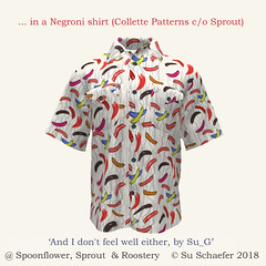 'And I don't feel well either by Su_G': Negroni shirt (Collete Patterns on Sprout Patterns) (Su_G) Tags: 2018 sug summer bbq sausagesizzle andidontfeelwelleitherbysug negronishirt colletepatterns sproutpatterns spoonflower spoonflowercontest spoonflowerdesignchallenge roostery humorous humourous silly quirky foodposioning wurst sausage sausages barbecue grill shirt dressmaking sewing sewingpattern whiteglovesewingservice würste wurstvergiftung