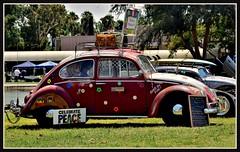 Peace (VegasBnR) Tags: nikon sigma sign signs city bug car vw cali socal california peace vegasbnr geo gimp grass green red