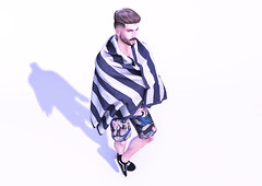 Oh, there you are! (Millo Copperfield (Jamill Copperfield)) Tags: millocopperfield jamillcopperfield secondlife game simulator blender spring summer shorts towel sneakers flow dossier hipstermensevent hme event