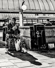 Waiting for... (mikeback-streetphotography) Tags: streetstyle streetphotographer streetarteverywhere streetportrait streetphotographystreet streetlife streetphoto streetartistry streetphotography street streetphotographers streetart urban bnw blackwhite black blackandwhite blackandwhitephotography monochromatic monochrome mono