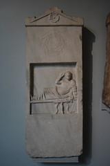 London, England, UK - British Museum - Ancient Greece and Rome - Marble Grave Stela - Smyrna, Asia Minor, 150-100 BC (jrozwado) Tags: europe uk unitedkingdom england london museum britishmuseum history culture anthropology stela