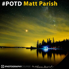 Matt Parish POTD (iPhotographyCourse) Tags: long exposure stars sky night yellow water lake pier house light painting fuji xt1 iphotography photographytutorial photographer photoshop photomanipulation learn elearning onlinelearing onlinephotography online onlineclass distancelearning videotutorial tutorial photography photo photographyclass tips tricks potd matt parish green black trees reflection