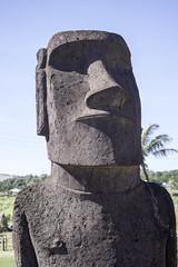 Front of Statue Hanga Roa Easter Island Chile (Barbara Brundage) Tags: front statue hanga roa easter island chile