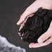 Black magnetic sand