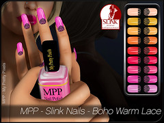 MPP - Slink Nails - Boho Warm Lace (MPP - My Pretty Pixels) Tags: mpp myprettypixels slink nails appliers fingers toes