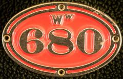 20180817_4422_7D2-100 Ww 680 badge (johnstewartnz) Tags: nzr nzgr ww680 badge locoplate locomotive platelocomotive number plateloco platecanoncanon apscapsceos100 canon100mm100mm f28l macro100mm macro tripod