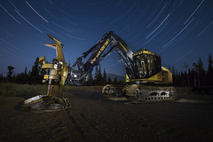 Feller Buncher (legham2012) Tags: canon 7d sigma816mm startrails lightpainting hdr longexposure feller buncher foresty