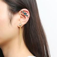 Inlaid Crystal Tassel Charm Star 18K Gold Plated Ear Cuff (1240661) #Banggood (SuperDeals.BG) Tags: superdeals banggood jewelry watch inlaid crystal tassel charm star 18k gold plated ear cuff 1240661