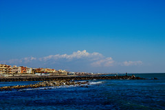 Seaside Towns in Italy (Dennis.dn) Tags: sea sky blue travel amazing italy town ruine old columns