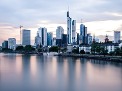 Bankfurt (s.W.s.) Tags: frankfurt germany skyline skyscraper bankenviertel city urban water cityscape architecture architectural river main longexposure neutraldensity nikon lightroom d3300