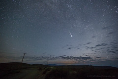 Meteor 4:39 am Friday (Jeffrey Sullivan) Tags: monolakecommitteenightphotographyworkshopcaliforniausala nevadaunited states perseid meteor shower mono basin night photography california usa landscape nature travel astrophotography canon eos 6d photo copyright august 2018 jeff sullivan astronomy