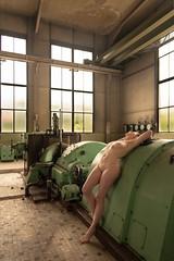 IMGP5403-2 (Carismarkus) Tags: abandonedplace beautyindecay industry lostplace lyssa powerplantpeppermint urbanexploration female industrial nude sensual woman
