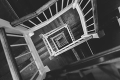 the.gravity.of.expectation (jonathancastellino) Tags: toronto architecture leica q stairwell gravity down spiral stair stairs step steps expectation future toward pattern