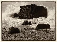 Splash! (World of Izon) Tags: waves blackandwhite marloessands pembrokeshire