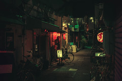 Somewhere in Osaka 🏮 (Laser Kola) Tags: streetphotography osaka lasseerkola laserkola street city night urban bladerunner cyberpunk moody exploringthecity somewhereinosaka nightlights nighthawk nightowl lantern japan izakaya ストリート lostinosaka darkcity darkalley darkstreet nightview cinematic fujifilm x100s scifi steampunk colorful colourful 2014