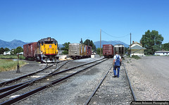 Turning on the Wye (jamesbelmont) Tags: unionpacific preston idaho cachevalleylocal depot wye boxcar emd gp392 missourikansastexas mkt napoleondynamite