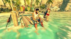 Find a place to runaway... (Markthedark SL) Tags: beach sun dock sl secondlife second mesh avatar virtual catwa signature riot relax water surf bajanorte baja norte tropical
