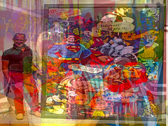 In the Mood For Art Appreciation in Padova (soniaadammurray - On & Off) Tags: digitalphotography manipulative experimental abstract collage collaborative massimobardelli padova italy travel friendship art artist appreciation look people artchallenge